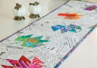pressed leaves table runner pattern download Cozy Table Runner Patterns For Quilting Inspirations