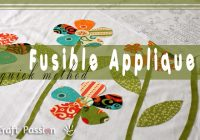 quick fusible applique method free pattern tutorial 11 Stylish Easy Applique Quilt Patterns