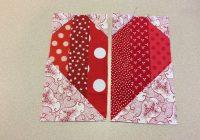quick heart quilt block tutorial on bluprint Cozy Heart Quilt Block Pattern