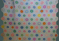 quilt grandmothers flower garden fussy cut with paths 11 Elegant Grandmothers Flower Garden Quilt Pattern Gallery