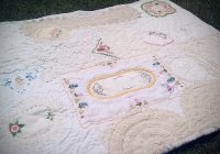 quilt hand stitched with vintage linen and doilies flickr Interesting Vintage Doily Quilt Gallery