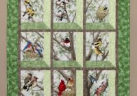 quilted and pieced wall hanging attic window birds in Elegant Attic Window Quilt Pattern