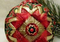 quilted ball ornament pattern christmas ornaments sewn Modern Quilted Ball Ornament Pattern Inspirations