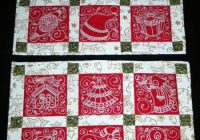 quilted christmas placemats advanced embroidery designs Christmas Quilting Placemat Gallery