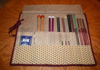 quilted knitting needle case blogged here tutorial here Elegant Quilted Knitting Needle Case Pattern