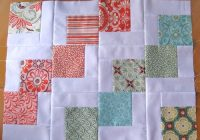 quilted pillowcase with charm squares sewn up Stylish Pillowcase Quilt Pattern Gallery
