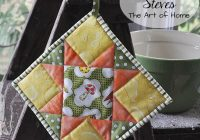 quilted potholder tutorial jacquelynne steves Stylish Quilted Potholder Patterns Inspirations