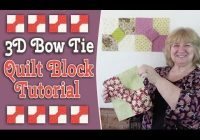 quilting blocks 3d bow tie quilt block tutorial youtube 11 Cool Dimensional Bow Tie Quilt Pattern Inspirations