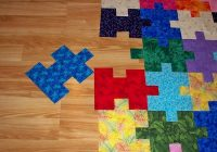 quilting board Interesting Puzzle Piece Quilt Pattern