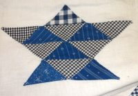 quilting on the crescent pieces of the past antique store Vintage Indigo Quilt Gallery