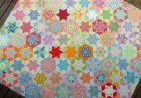 red pepper quilts hand pieced hexagon quilt Elegant Hand Pieced Quilt Patterns