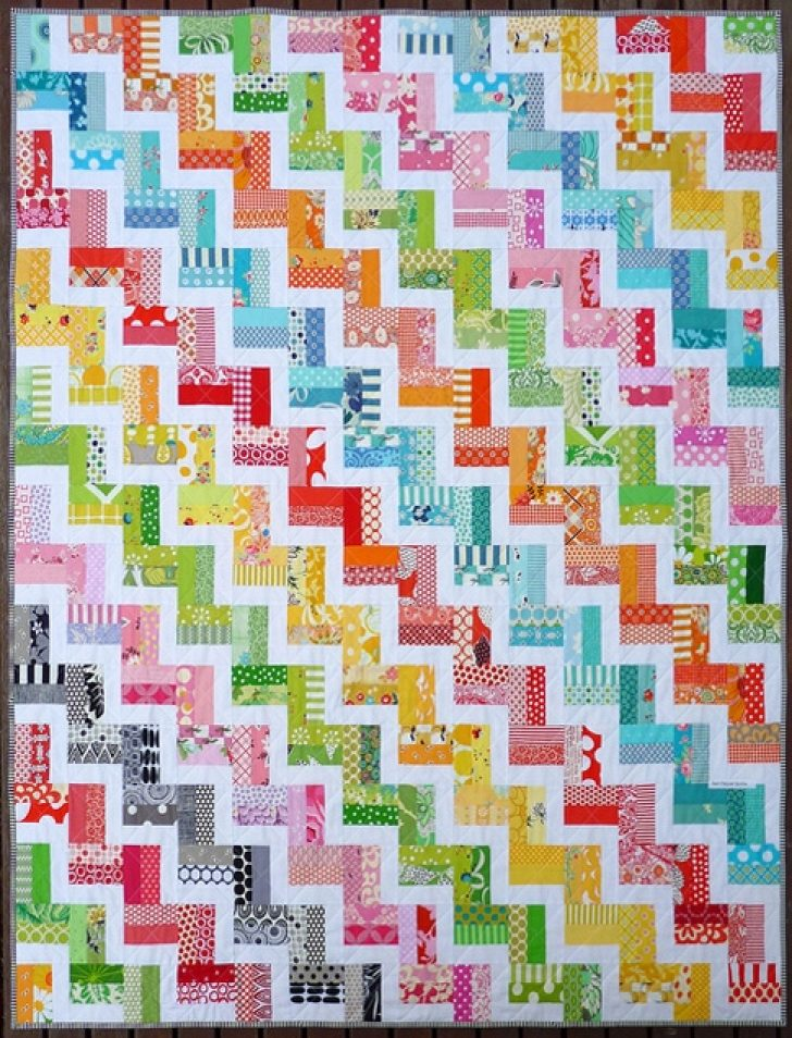 Permalink to Unique Zig Zag Rail Fence Quilt Pattern Inspirations
