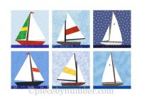 sailboat quilt blocks paper pieced quilt pattern instant Elegant Sailboat Quilt Block Pattern Inspirations