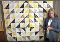 scrap quilt tutorial honeycomb quilt with half square triangles fast and easy Elegant Half Square Quilt Patterns