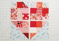 scrappy heart quilt block pattern a beginners delight 4 Inch Quilt Block Patterns Inspirations
