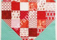 scrappy heart quilt block pattern a beginners delight Cozy Heart Quilt Block Pattern