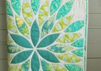 sea glass pattern on craftsy love the quilting of this Modern Simple Applique Quilt Patterns Inspirations