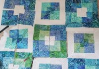 seaside squares lap quilt easy square in square quilt block Stylish Square In Square Quilt Pattern