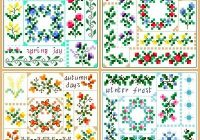 seasons quilt squares New Quilt Cross Stitch Patterns Gallery