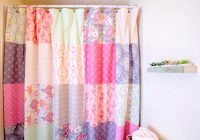 sew a patchwork shower curtain from fat quarters Stylish Quilted Curtain Patterns