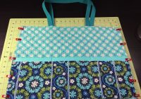 sew a quilted fabric tote bag sewing projects fabric Stylish Sewing With Pre Quilted Fabric Inspirations