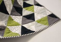sew equilateral triangle ba quilt follow links to see Elegant Triangle Baby Quilt Pattern Inspirations