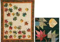 showy quilts to shrink your stash fall quilts applique 9 Interesting Falling Leaves Quilt Pattern Gallery