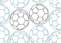 simple soccer balls 160 stitches digitized quilting Cool Soccer Ball Quilt Pattern Inspirations