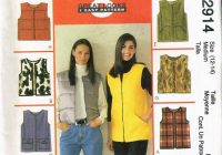 size 12 14 misses easy zipper front vest sewing pattern Cool Quilted Vest Sewing Pattern Inspirations