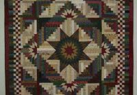 starlight log cabin a log cabin variation with a lone star Stylish Lone Star Log Cabin Quilt Pattern Free Inspirations