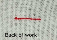 starting your thread waste knot photo tutorial Stylish Waste Knot Quilt Instructions