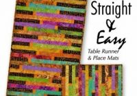 straight easy quilt table runner pattern Modern Quilted Table Runner Patterns Gallery
