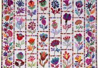 Stylish flower garden from glorious color 9 Unique Flower Garden Quilt Pattern Inspirations
