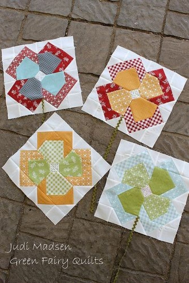 Permalink to 10 Interesting Flower Patchwork Quilt Patterns