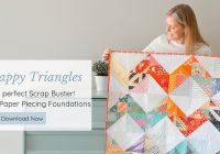 Stylish leila gardunia 11 Modern Triangle Free Quilts Inspirations