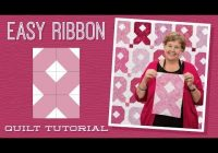 Stylish make an easy ribbon quilt with jenny youtube 10 Elegant Breast Cancer Ribbon Quilt Pattern Inspirations