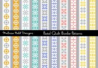 Stylish quilt border patterns clipart Cozy Quilting Border Patterns