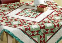 Stylish quilted table cloth table quilts table topper patterns 10   Quilted Tablecloth Patterns Gallery