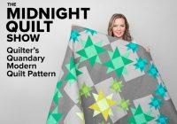 Stylish quilters quandary modern quilt pattern midnight quilt show bluprint 9 Modern Debbie Caffrey Quilt Patterns Inspirations