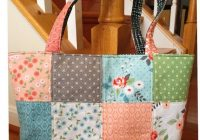 summer quilted tote bag handmade quilting tote bagshoulder Modern New Fabric Quilted Tote Bags Inspirations
