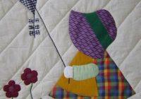 sun bonnet sue quilt patterns free sunbonnet sue evalyn Cozy Bonnet Girl Quilt Pattern Inspirations