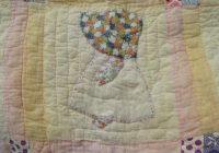 sunbonnet sue vintage farm country hand stitched applique quilt Modern Vintage Sunbonnet Sue Quilt