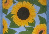 sunflower quilt free quilt patterns Cozy Sunflower Quilt Patterns Free