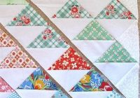 sunshine on my shoulders tutorial half square triangle Modern Quilting Triangles Tips