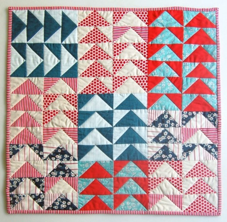 Permalink to Cozy Easy Flying Geese Quilt Pattern