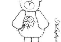 teddy bear patterns for applique freeapplique Unique Teddy Bear Applique Quilt Pattern Inspirations