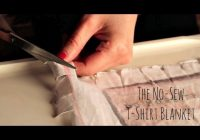the no sew t shirt blanket tutorial Cozy No Sew Tshirt Quilt Gallery