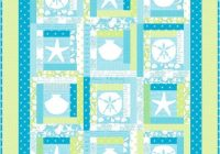 the sea coastal sea shells quilt pattern instant download Cozy By The Sea Quilt Pattern Gallery