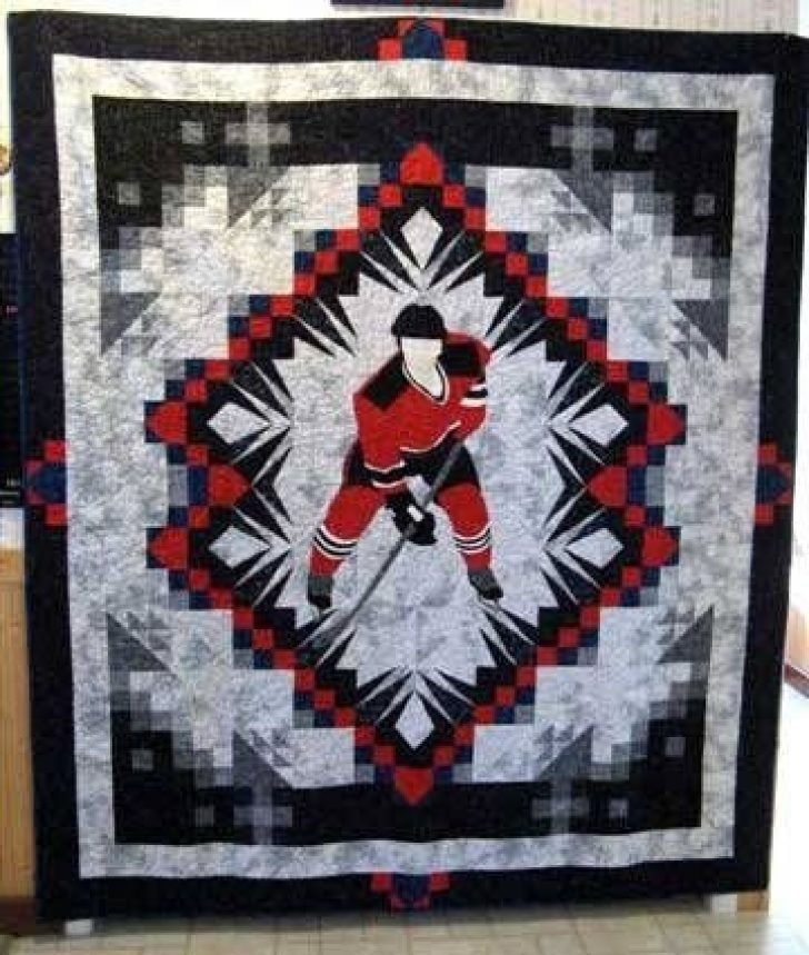 Permalink to Hockey Quilt Pattern