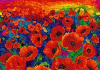 timeless treasures i dream of poppy quilt fabric 36 panel style cd6763 Cozy New Poppy Quilt Fabric